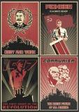 Ensemble d'affiches soviétiques de propagande images stock
