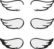 Ensemble d'ailes de bande dessinée Photographie stock libre de droits