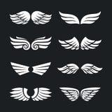 Ensemble d'ailes de vecteur Photo stock