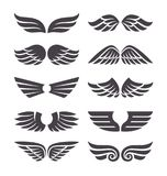 Ensemble d'ailes de vecteur Images stock