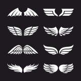 Ensemble d'ailes de vecteur Image libre de droits