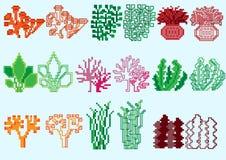 Ensemble d'algues de pixel photographie stock libre de droits