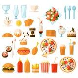 Ensemble d'aliments de préparation rapide Images stock