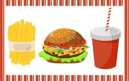 Ensemble d'aliments de préparation rapide Photo stock