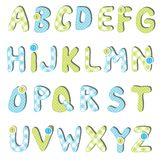 Ensemble d'alphabet Images stock