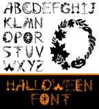 Ensemble d'alphabet de Halloween illustration de vecteur