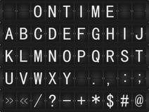Affichage mécanique d'horaire Images libres de droits