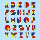 Ensemble d'alphabet de vecteur Photo libre de droits