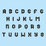 Ensemble d'alphabet de vecteur Photos stock