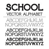 Ensemble d'alphabet de vecteur d'école illustration stock