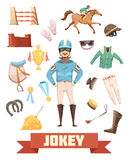 Ensemble d'Ammunition Decorative Icons de jockey Photos stock