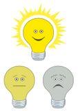 Ensemble d'ampoules électriques Photographie stock libre de droits