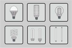 Ensemble d'ampoules Image libre de droits