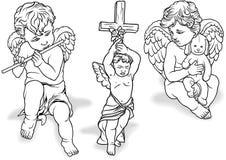 Ensemble d'ange illustration libre de droits