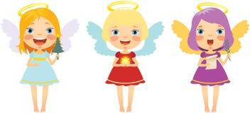 Ensemble d'anges de Noël Images stock