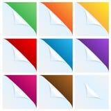 Ensemble d'angles du livre blanc avec un backgr coloré Photographie stock libre de droits