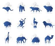 Ensemble d'animaux Images libres de droits