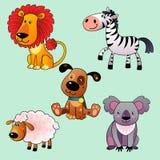 Ensemble d'animaux de bande dessinée. Image libre de droits