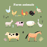 Ensemble d'animaux de ferme Photo stock
