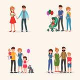 Ensemble d'antécédents familiaux illustration libre de droits