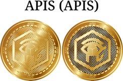 Ensemble d'API d'API d'or physiques de pièce de monnaie Photos libres de droits