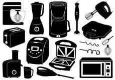 Ensemble d'appareils de cuisine Photo stock
