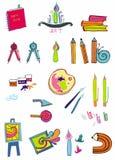 Ensemble d'approvisionnements d'art Image stock
