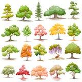 Ensemble d'arbre Image stock