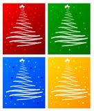 Ensemble d'arbre de Noël Images libres de droits