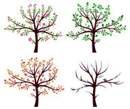 Ensemble d'arbres illustration stock