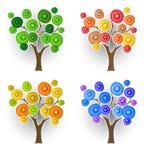 Ensemble d'arbres décoratifs Images libres de droits