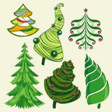 Ensemble d'arbres de Noël Photo stock