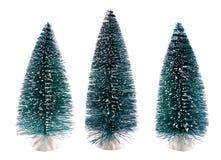 Ensemble d'arbres de Noël décoratifs Photos stock