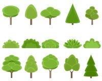 Ensemble d'arbres et d'arbustes illustration de vecteur