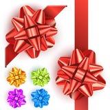 Ensemble d'arc de cadeau Image stock