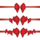 Ensemble d'arcs de cadeau avec le ruban Image stock