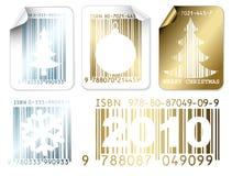 Ensemble d'argent de Noël d'affaires et d'étiquettes d'or Image stock