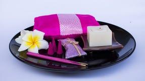 Ensemble d'aromatherapy Images libres de droits