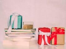 Ensemble d'article de décoration pour Noël et l'événement de nouvelle année par le cadeau d'ensemble Photos libres de droits