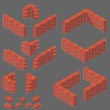 Ensemble d'articles isométriques de maçonnerie Photo stock