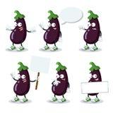 Ensemble d'aubergines de bande dessinée illustration libre de droits
