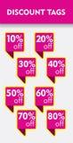 Ensemble d'autocollant d'offre spéciale illustration de vecteur d'étiquette de pinkdiscount Étiquette vente de promo de vente off Illustration de Vecteur