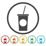 Ensemble d'autocollant de boisson non alcoolisée illustration libre de droits