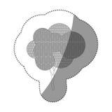 ensemble d'autocollant de découpe d'icône abstraite d'arbre Images libres de droits
