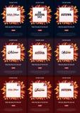 Ensemble d'Autumn Background avec des feuilles bannière pour l'affiche de achat de vente ou de promo et de cadre tract ou Web Tem Image libre de droits
