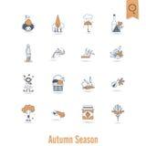 Ensemble d'Autumn Icons plat Image libre de droits