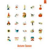 Ensemble d'Autumn Icons plat Photos libres de droits