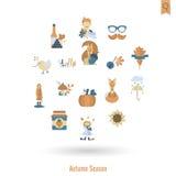 Ensemble d'Autumn Icons plat Photo stock