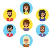 Ensemble d'avatars illustration de vecteur