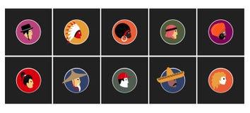 Ensemble d'avatars de vecteur Illustration Stock